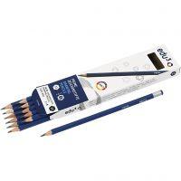 crayon à papier edu, dureté B, 12 pièce/ 1 Pq.
