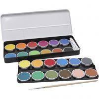 peinture aquarelle PRIMO, d: 30 mm, couleurs assorties, 2x12 pièce/ 1 Pq.