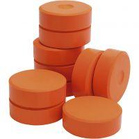 Pastilles de peinture Tempera, H: 19 mm, d: 57 mm, orange, 10 pièce/ 1 Pq.