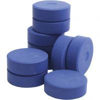 Pastilles de peinture Tempera, H: 19 mm, d: 57 mm, bleu, 10 pièce/ 1 Pq.