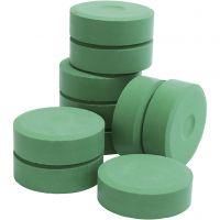 Pastilles de peinture Tempera, H: 19 mm, d: 57 mm, vert, 10 pièce/ 1 Pq.