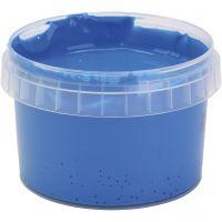 Peinture au doigt, bleu, 250 ml/ 1 flacon