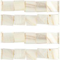 Perles de nacre, d: 12 mm, diamètre intérieur 1 mm, nacré, 264 pièce/ 1 Pq.