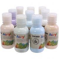 Peinture acrylique de luxe PRIMO, couleurs pastel, 10x125 ml/ 1 Pq.