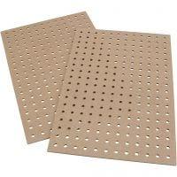 Planches à broder, dim. 20x30x0,5 cm, 12 pièce/ 1 Pq.