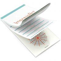 Instructions d'estampage, dim. 6,5x13 cm, 1 pièce