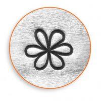 Tampon relief, Fleur, L: 65 mm, dim. 6 mm, 1 pièce