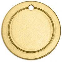 Plaque métallique, Anneau, d: 20 mm, diamètre intérieur 1,85 mm, ép. 1 mm, laiton, 6 pièce/ 1 Pq.