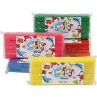 Pâte à modeler Softy, couleurs assorties, 6x500 gr/ 1 Pq.