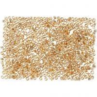 Rocailles, d: 1,7 mm, dim. 15/0 , diamètre intérieur 0,5-0,8 mm, Pêche, 500 gr/ 1 sac
