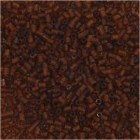 2-cut, d: 1,7 mm, dim. 15/0 , diamètre intérieur 0,5 mm, brun, 25 gr/ 1 Pq.