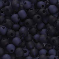 Perles en plastique, d: 6 mm, diamètre intérieur 2 mm, bleu, 40 gr/ 1 Pq.