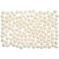 Perles de cire, d: 3 mm, diamètre intérieur 0,7 mm, nacré, 150 pièce/ 1 Pq.