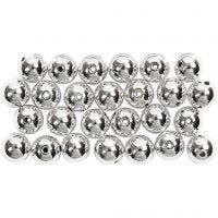 Perles de cire, d: 8 mm, diamètre intérieur 1 mm, argent, 50 pièce/ 1 Pq.