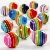 Perles Multi Mix, d: 12 mm, diamètre intérieur 1,5 mm, 75 ml/ 1 Pq., 55 gr