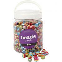 Perles Multi Mix, d: 12 mm, diamètre intérieur 1,5 mm, 700 ml/ 1 boîte, 510 gr