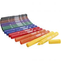 Feutres textile PRIMO, couleurs assorties, 12x8 pièce/ 1 Pq.