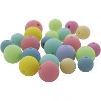Perles pastel, d: 7+9 mm, diamètre intérieur 1,5 mm, 500 gr/ 1 Pq.