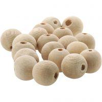 Perle en bois, d: 10 mm, diamètre intérieur 3 mm, 500 pièce/ 1 Pq.