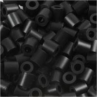 Perles à repasser, dim. 5x5 mm, diamètre intérieur 2,5 mm, medium, noir (32220), 6000 pièce/ 1 Pq.