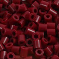 Perles à repasser, dim. 5x5 mm, diamètre intérieur 2,5 mm, medium, rouge vin (32239), 6000 pièce/ 1 Pq.