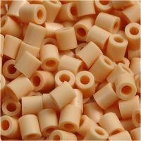 Perles à repasser, dim. 5x5 mm, diamètre intérieur 2,5 mm, medium, beige clair (32228), 6000 pièce/ 1 Pq.