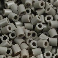 Perles à repasser, dim. 5x5 mm, diamètre intérieur 2,5 mm, medium, cendré (32226), 6000 pièce/ 1 Pq.