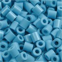 Perles à repasser, dim. 5x5 mm, diamètre intérieur 2,5 mm, medium, turquoise (32256), 6000 pièce/ 1 Pq.