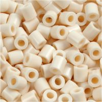 Perles à repasser, dim. 5x5 mm, diamètre intérieur 2,5 mm, medium, beige clair (32251), 1100 pièce/ 1 Pq.
