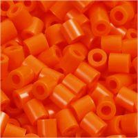Perles à repasser, dim. 5x5 mm, diamètre intérieur 2,5 mm, medium, orange transparent (32233), 6000 pièce/ 1 Pq.