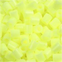 Perles à repasser, dim. 5x5 mm, diamètre intérieur 2,5 mm, medium, jaune pastel (32244), 6000 pièce/ 1 Pq.