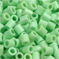 Perles à repasser, dim. 5x5 mm, diamètre intérieur 2,5 mm, medium, vert pastel (32252), 6000 pièce/ 1 Pq.