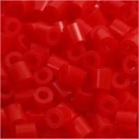 Perles à repasser, dim. 5x5 mm, diamètre intérieur 2,5 mm, medium, rouge clair (32225), 6000 pièce/ 1 Pq.