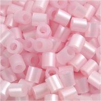 Perles à repasser, dim. 5x5 mm, diamètre intérieur 2,5 mm, medium, rose nacrées (32259), 6000 pièce/ 1 Pq.