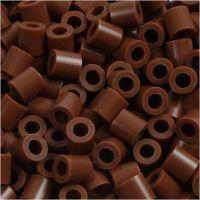 Perles à repasser, dim. 5x5 mm, diamètre intérieur 2,5 mm, medium, chocolat (32249), 6000 pièce/ 1 Pq.