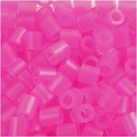 Perles à repasser, dim. 5x5 mm, diamètre intérieur 2,5 mm, medium, rose néon (32257), 6000 pièce/ 1 Pq.