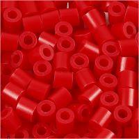 Perles à repasser, dim. 5x5 mm, diamètre intérieur 2,5 mm, medium, rouge (32231), 6000 pièce/ 1 Pq.