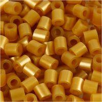 Perles à repasser, dim. 5x5 mm, diamètre intérieur 2,5 mm, medium, or (32263), 6000 pièce/ 1 Pq.