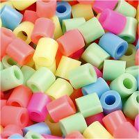 Perles à repasser, dim. 5x5 mm, diamètre intérieur 2,5 mm, medium, couleurs pastel, 6000 ass./ 1 Pq.