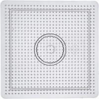 Plaque à picots, dim. 14,5x14,5 cm, transparent, 1 pièce