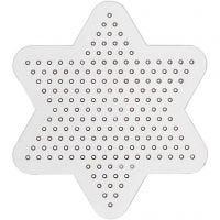 Plaque à picots, petite étoile, d: 10 cm, 10 pièce/ 1 Pq.