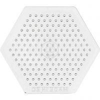 Plaque à picots, petit hexagone, H: 7,5 cm, 10 pièce/ 1 Pq.