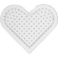 Plaque à picots, petit coeur, H: 8 cm, 10 pièce/ 1 Pq.