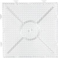 Plaque à picots, grand carré, dim. 15x15 cm, transparent, 1 pièce