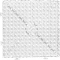 Plaque à picots, Large carré, dim. 15x15 cm, JUMBO, transparent, 1 pièce