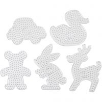 Plaques à picots, dim. 16x19,5-19x24 cm, JUMBO, transparent, 5 pièce/ 1 Pq.