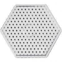 Plaque à picots, JUMBO -hexagone, JUMBO, transparent, 5 pièce/ 1 Pq.