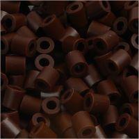 Photo Pearls, dim. 5x5 mm, diamètre intérieur 2,5 mm, brun (3), 6000 pièce/ 1 Pq.