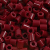Photo Pearls, dim. 5x5 mm, diamètre intérieur 2,5 mm, rouge vin (4), 6000 pièce/ 1 Pq.