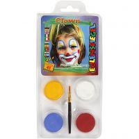 Eugelspiegel Maquillage visage, clown, couleurs assorties, 1 set